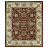 Hand-tufted Anabelle Rust Kashan Wool Rug (5' x 7'9)
