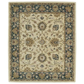 Hand-tufted Anabelle Gold Agra Wool Rug (7'6 x 9')
