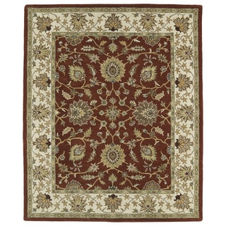 Hand-tufted Anabelle Rust Kashan Wool Rug (8' x 11')