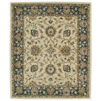 Hand-tufted Anabelle Gold Agra Wool Rug (5' x 7'9)