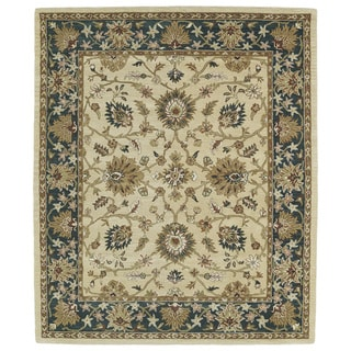 Hand-tufted Anabelle Gold Agra Wool Rug - 8' x 11'