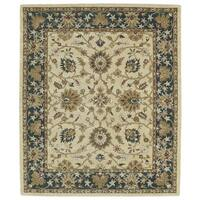 Hand-tufted Anabelle Gold Agra Wool Rug (8' x 11')