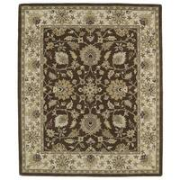 Hand-tufted Anabelle Chocolate Kashan Wool Rug - 8' x 11'