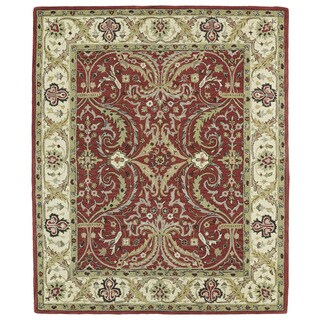 Hand-tufted Anabelle Red Shiraz Wool Rug (5' x 7'9)