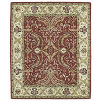 Hand-tufted Anabelle Red Shiraz Wool Rug (8' x 11')