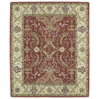Hand-tufted Anabelle Red Shiraz Wool Rug - 8' x 11'