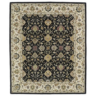 Hand-tufted Anabelle Black Wool Rug (5' x 7'9) - 5' x 7'9""