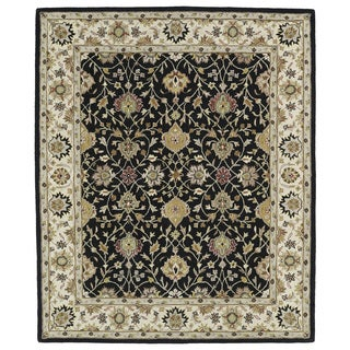Hand-tufted Anabelle Black Wool Rug (8' x 11') - 8' x 11'