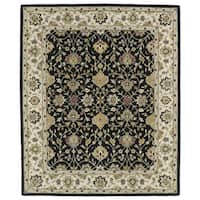Hand-tufted Anabelle Black Wool Rug (8' x 11')