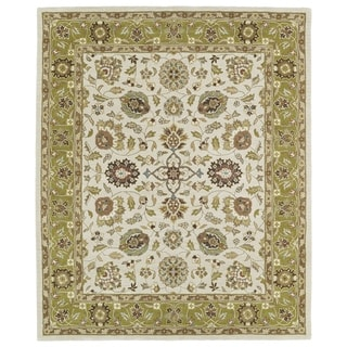 Hand-tufted Anabelle Beige Wool Rug (7'6 x 9')