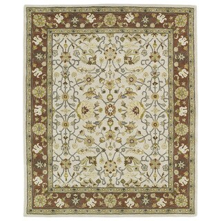 "Hand-tufted Anabelle Ivory Wool Rug (7'6 x 9') - 7'6"" x 9'"
