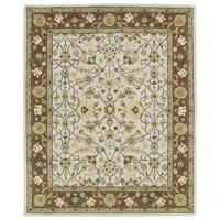 Hand-tufted Anabelle Ivory Wool Rug - 5' x 7'9
