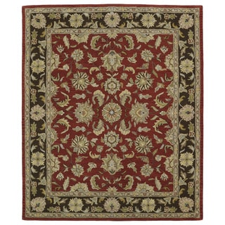 """Hand-tufted Anabelle Salsa Wool Rug (7'6 x 9') - 7'6"""" x 9'"""