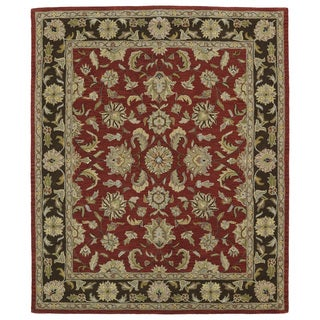 Hand-tufted Anabelle Salsa Wool Rug (8' x 11')