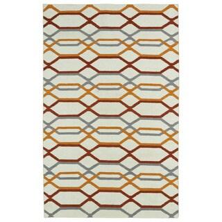 Hollywood Flatweave Ivory Stripes Rug (2' x 3')