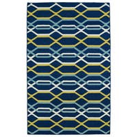 Hollywood Flatweave Navy Stripes Rug - 2' x 3'