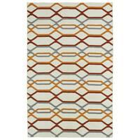 Hollywood Flatweave Ivory Stripes Rug (8' x 10')