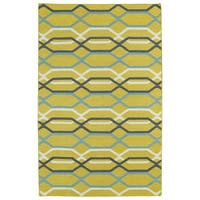 Hollywood Flatweave Yellow Stripes Rug (9' x 12')