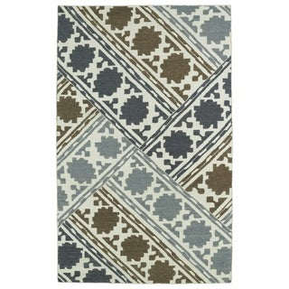 Hollywood Flatweave brown Patchwork Rug (2' x 3')