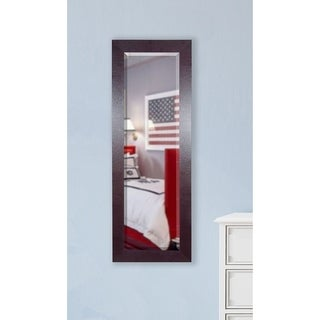 American Made Rayne Brown Leather 21.5 x 60.5-inch Slender Body Mirror