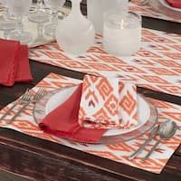 Ikat Printed Placemat, Runner, or Napkin Set