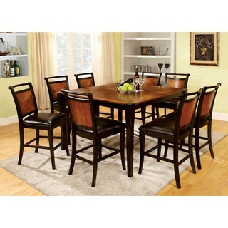 Furniture of America Saldi Duo-tone 9-piece Counter Height Dining Set