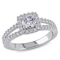 Miadora Signature Collection 14k White Gold 1ct TDW Certified Diamond Engagement Ring