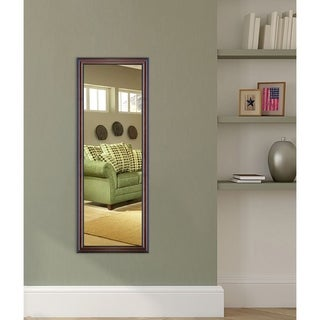 American Made Rayne American Walnut 20 x 59-inch Slender Body Mirror