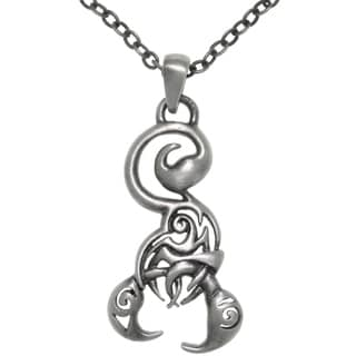 Carolina Glamour Collection Pewter Stylized Scorpion Pendant Necklace