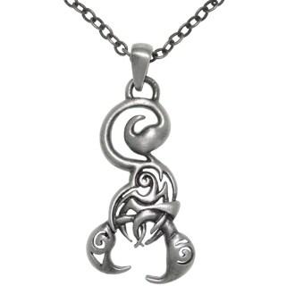 Pewter Stylized Scorpion Pendant Necklace