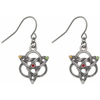 Carolina Glamour Collection Pewter Celtic Trinity Three Fold Knot Dangle Earrings