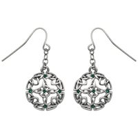 Glass Pewter Earrings