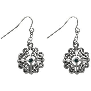 Carolina Glamour Collection Pewter Celtic Heart Knot Dangle Earrings