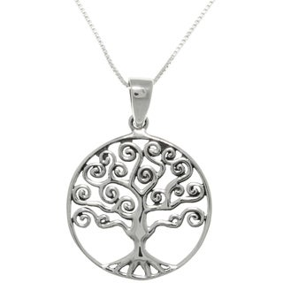 Carolina Glamour Collection Sterling Silver Celtic Love Tree Of Life Pendant Necklace