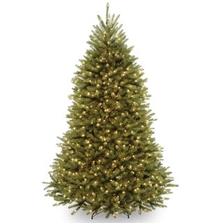 6.5-foot Dunhill Fir Pre-lit or Unlit Artificial Hinged Christmas Tree