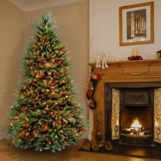65 foot dunhill fir pre lit or unlit artificial hinged christmas tree - Christmas Tree Deals