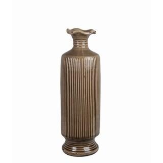 Brown/ Green Ceramic Vase