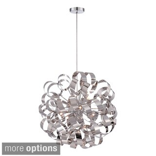 Ribbons Curled Steel 12-light Pendant