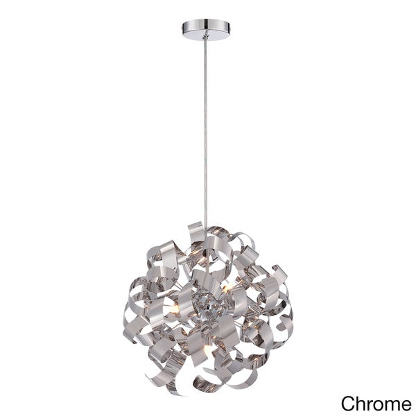 Quoizel Ribbons Curled Steel 5-light Pendant