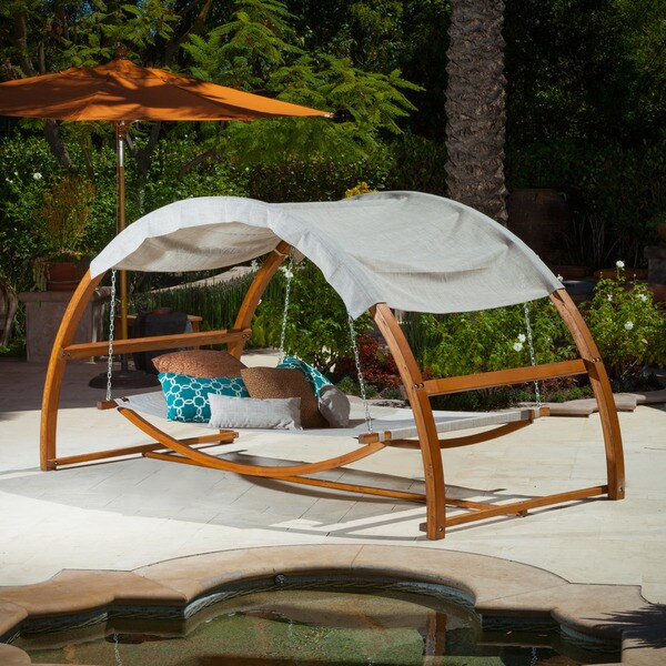 Tonga Swing Bed with Canopy by Christopher Knight Home - Tonga Swing Bed With Canopy By Christopher Knight Home - Free
