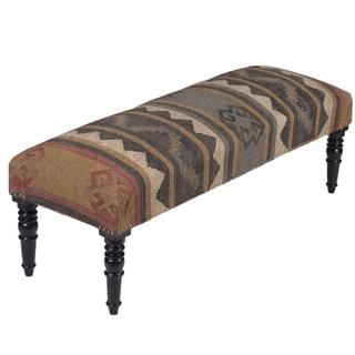 Herat Oriental Handmade Indo Kilim Upholstered Bench
