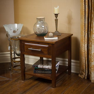 Christopher Knight Home Luna Acacia Wood One Drawer End Table