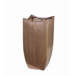 Medium Copper Ceramic Vase