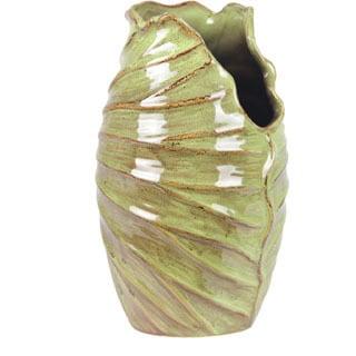Folded Edge Large Ceramic Vase