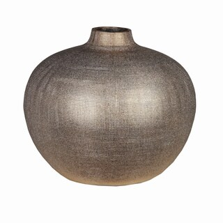 Round Copper Inscriptions Ceramic Vase