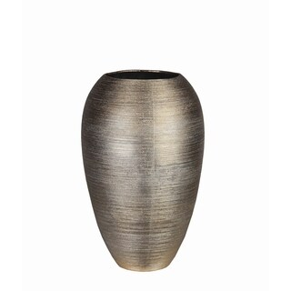 Large Gold Metallic Ceramic Vase