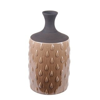 Water Drop Brown Ceramic Vase