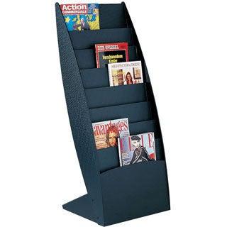 Paperflow Ovo Black Curved Floor Literature Display