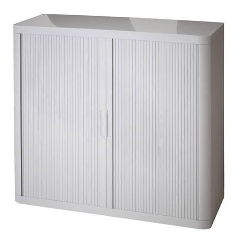 "Paperflow EasyOffice Metal Storage Cabinet, 41"" Tall with Two Shelves"