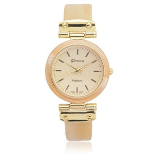 Geneva Platinum Women's Shell Link Watch